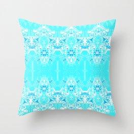 BLUE ATOMS Throw Pillow