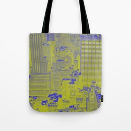 New York Buildings - Green Tote Bag