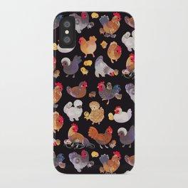 Chicken and Chick - dark iPhone Case