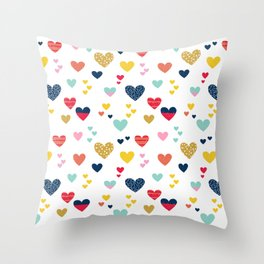 cheerful hearts Throw Pillow