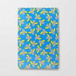 taped banana art Metal Print