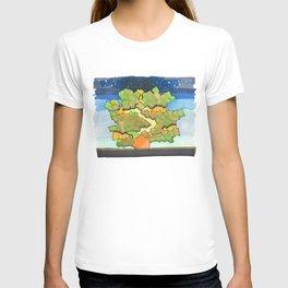 Starry Sky at Night Tree House 25 T-shirt