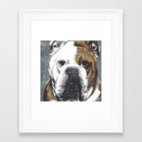 english bulldog Framed Art Prints featuring English Bulldog  by ali_grace_gal