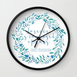Watercolor Wreath Wall Clock