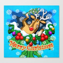 Rudolph (3 of 7 Characters) Canvas Print