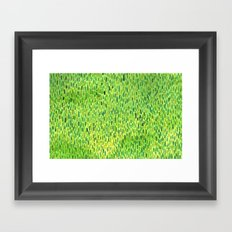 Watercolor Grass Pattern Green by Robayre Framed Art Print