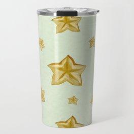 Carambola exotic watercolor pattern Travel Mug