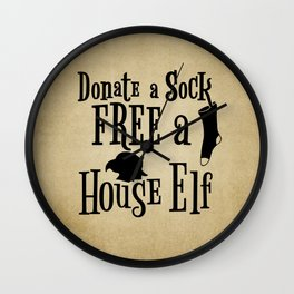 Donate a Sock FREE a House Elf Wall Clock