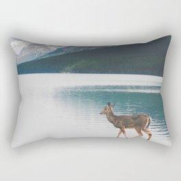 Bowman Lake Visitor Rectangular Pillow