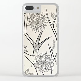 mandala tree 2 Clear iPhone Case