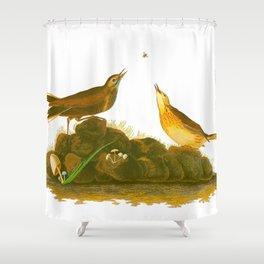 Brown Lark Bird Shower Curtain