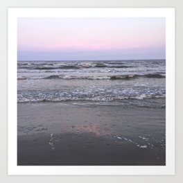 pink as the seafoam Art Print