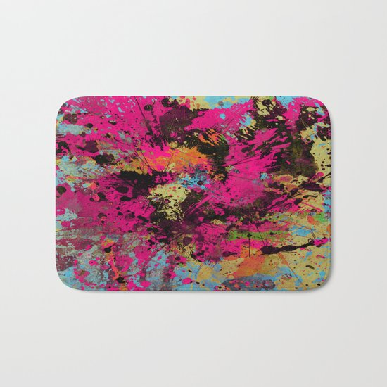 Express Yourself IV - Abstract, oil painting Bath Mat