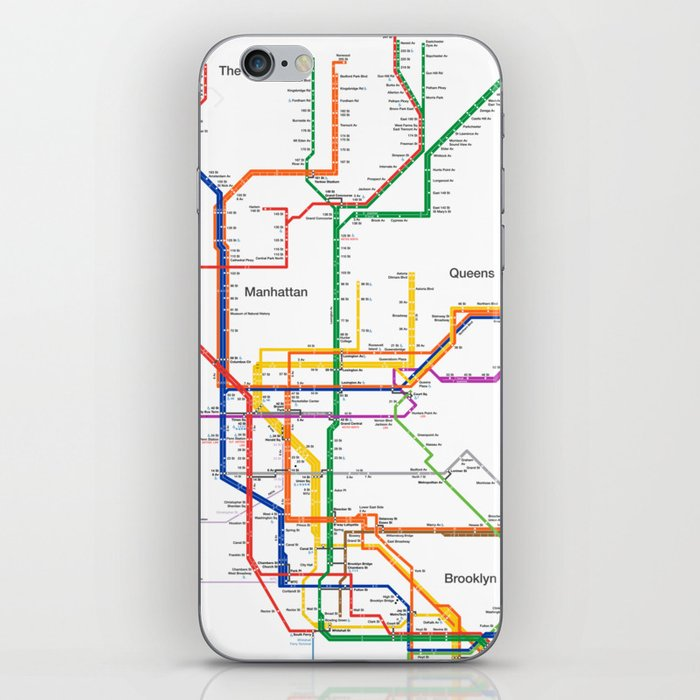 New York Subway Map Mobile.New York City Subway Map Iphone Skin By Igorsin