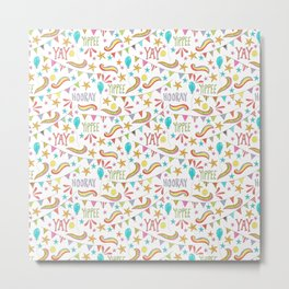 colorful party pattern Metal Print