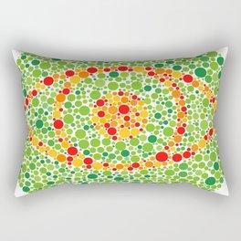 Colour Blindness Eye Rectangular Pillow