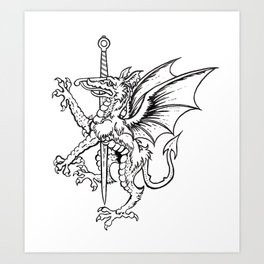 Logres Dragon Art Print