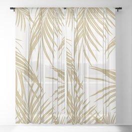 Gold Palm Leaves Dream #1 #tropical #decor #art #society6 Sheer Curtain