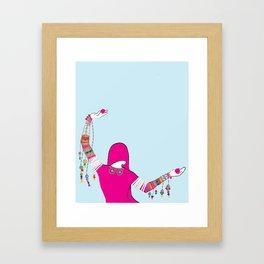 Indian Folk Dancer Pose/Indian Dancer Art/Indian Rajasthani Dancing Art Framed Art Print