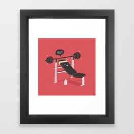 But he's always at the gym... Framed Art Print