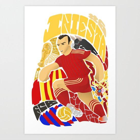 Iniesta Art Print