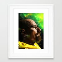 walter white Framed Art Prints featuring Walter by Chris Ham