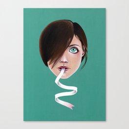 Script Lips Canvas Print