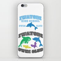 iwatobi iPhone & iPod Skins featuring Iwatobi - Dolphin by drawn4fans