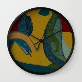 MEDUSA - Mythology, Snakes, Green, Yellow, Girl, Legend, Lips Wall Clock