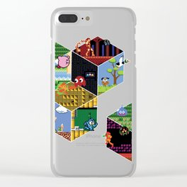 Ode to 8-Bit Gaming Clear iPhone Case
