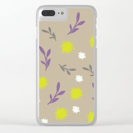 Floral pastel Clear iPhone Case