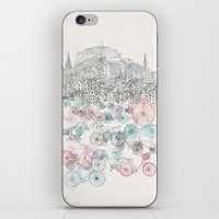 bikes iPhone & iPod Skins featuring Old Town Bikes by David Fleck