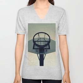 Basketball Sunset Unisex V-Neck
