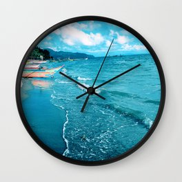 Coastal Scene Wall Clock