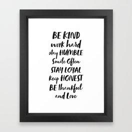 My Rules Framed Art Print