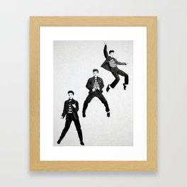 Elvis Presley Promotional photos for Jailhouse Rock, 1957 Framed Art Print