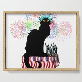 Lady Liberty - Patriotic Le Chat Noir Serving Tray