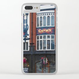 Crown Hotel In Liverpool - © Doc Braham; All Rights Reserved. Clear iPhone Case