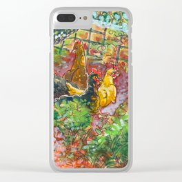Chick Pen Clear iPhone Case