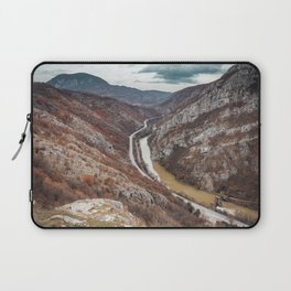 Beautiful picture of the canyon in Serbia, with river and the highway in the middle Laptop Sleeve