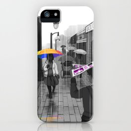 Passing in the Street iPhone Case
