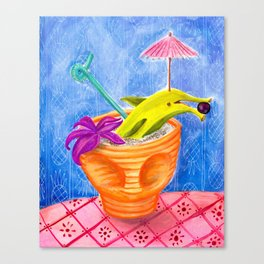 Tiki Drink no.2 with banana dolphin Canvas Print