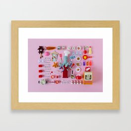 Miniature Collage: Cooking Framed Art Print