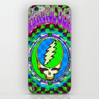 grateful dead iPhone & iPod Skins featuring Grateful Dead #9 Optical Illusion Psychedelic Design by CAP Artwork & Design