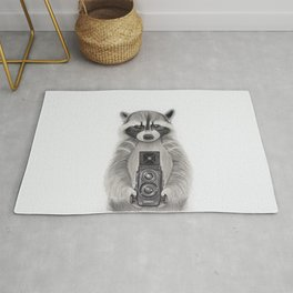 Raccoon Measuring Light / Mapache Midiendo la Luz Rug