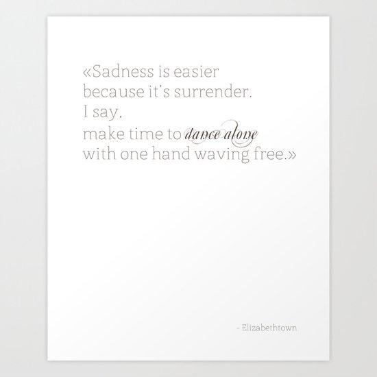 Elizabethtown Quote Art Print