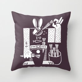 Carrots All Day Long Throw Pillow