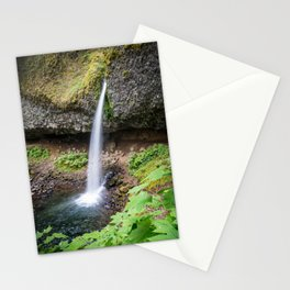 Ponytail Falls - Columbia River Gorge Stationery Cards