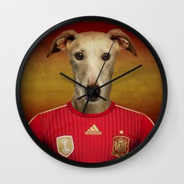 Worldcup 2014 : Spain - Spanish Galgo Wall Clock