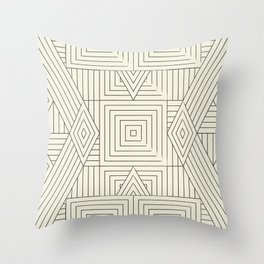 Mudcloth bege Throw Pillow